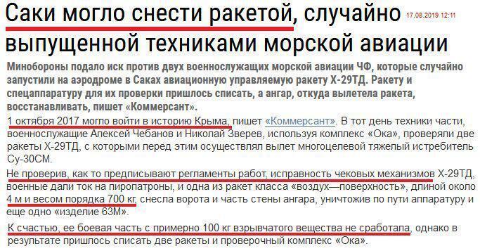 Случайно запустили ракету: в Крыму наказали оккупантов Путина