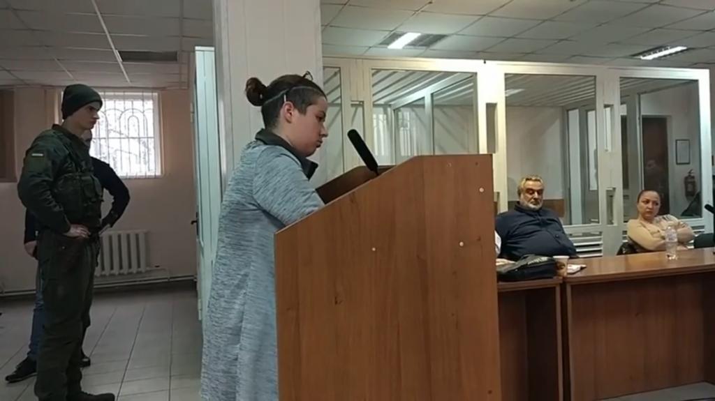 Олена Адамська на засіданні суду