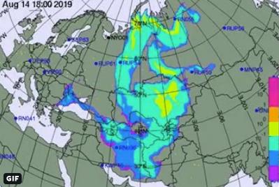 Kарта вероятного разлета нуклидов