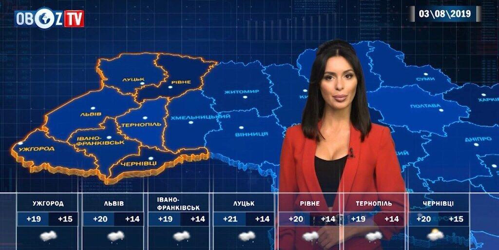 Прогноз погоды на 3 августа от ObozTV