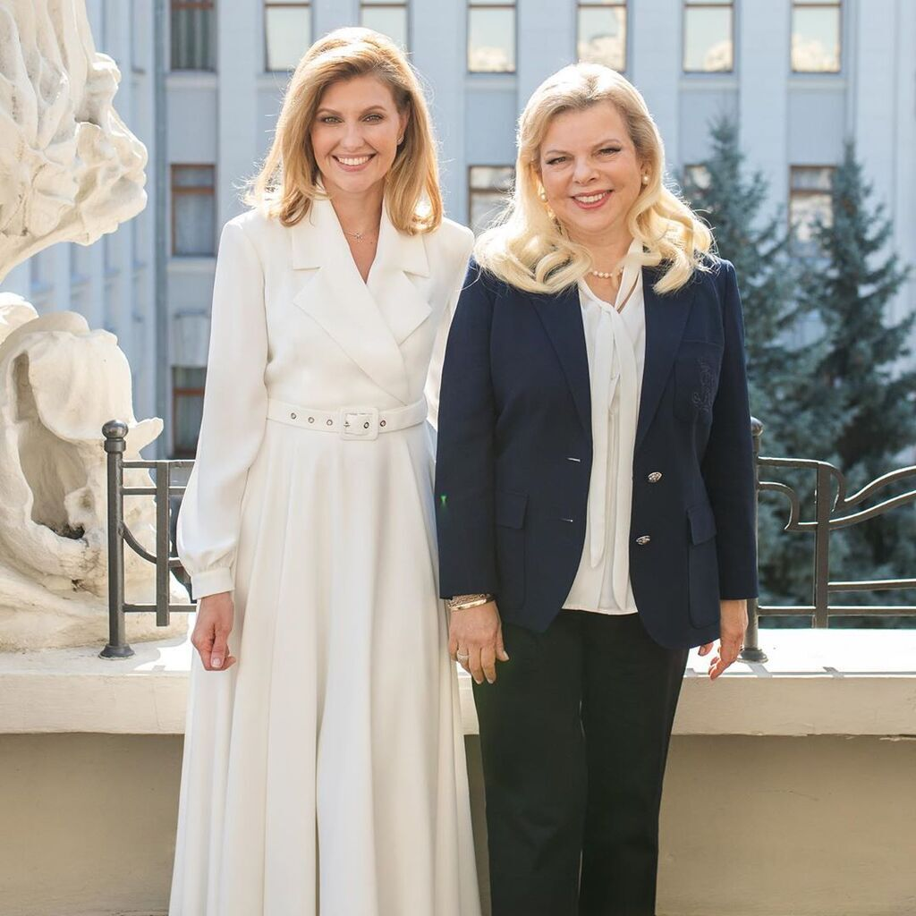 Олена Зеленська і Сара Нетаньягу