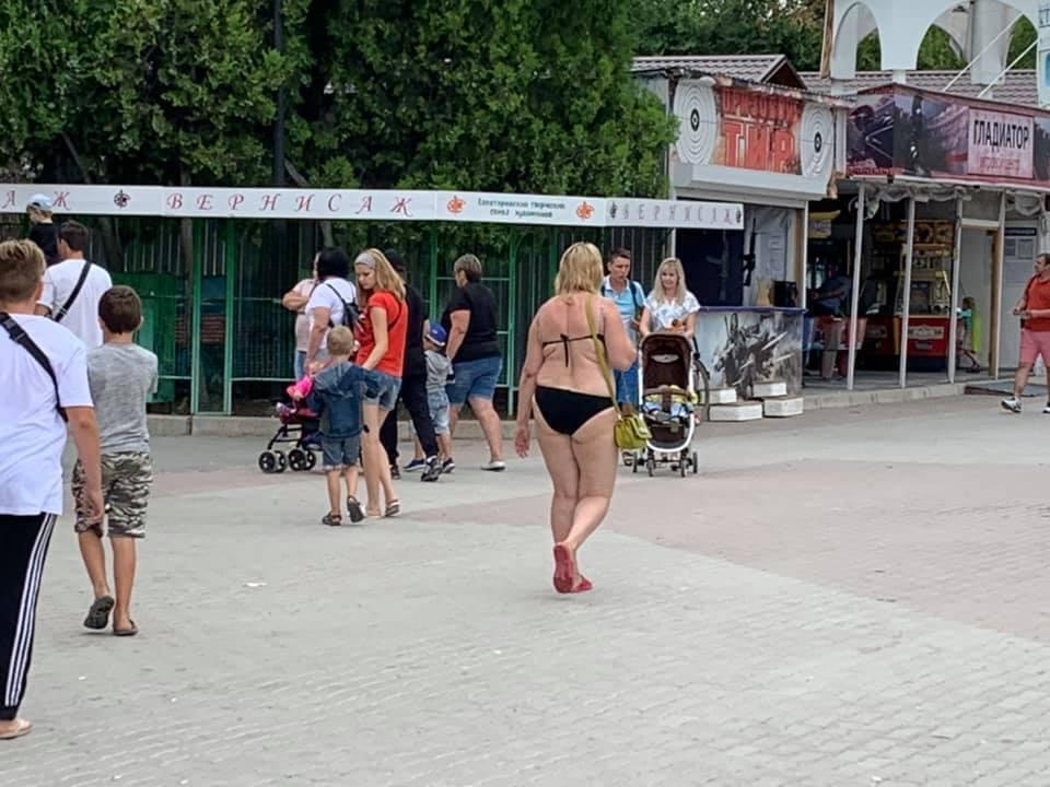 Туристи в Євпаторії