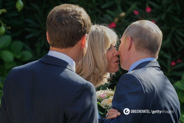 Путін зробив дивний комплімент дружині Макрона