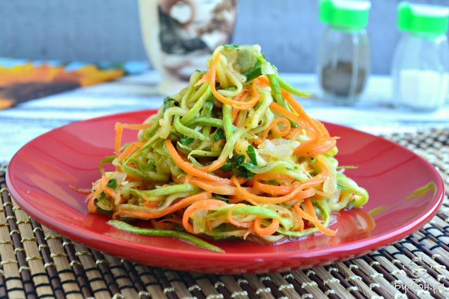 Салат з кабачків по корейськи