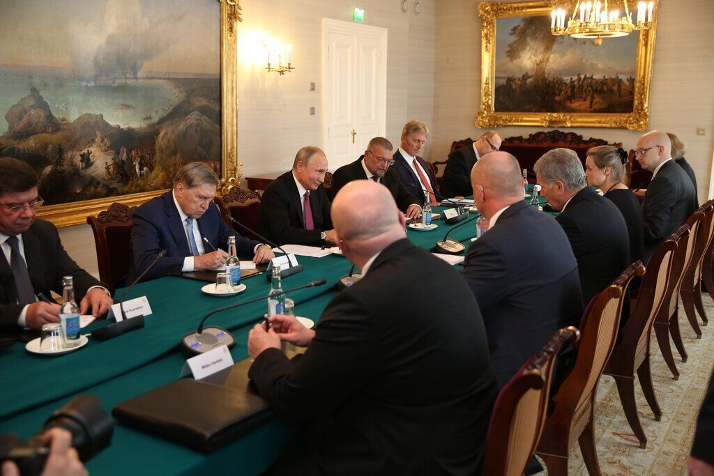 Встреча Путина и Ниинистё