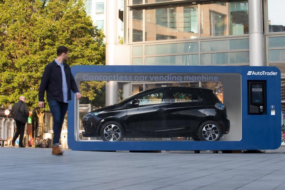 Автомат по продаже Renault Zoe прямо посреди Лондона
