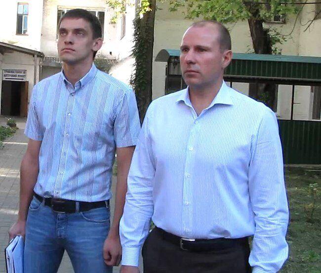 Зліва направо: Іван Федоров і Сергій Мінько
