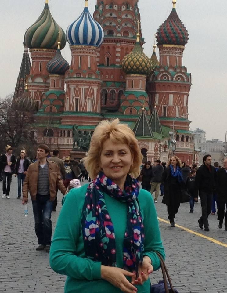Лилия Сопельник возле Кремля