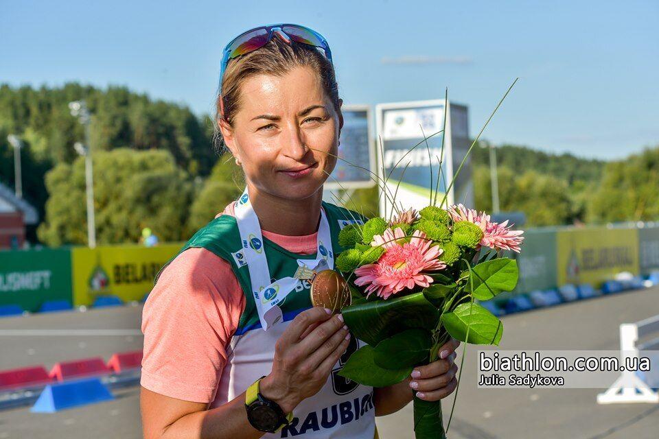 Валя Семеренко выиграла чемпионат мира по биатлону