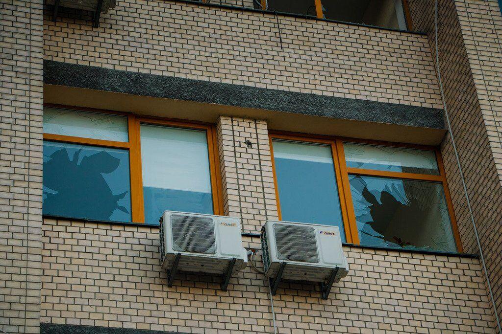 Місце вибуху в Києві