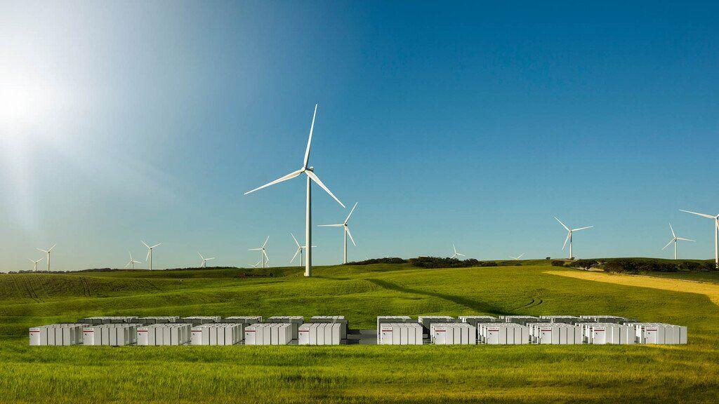 Ветровые станции и сетевые батареи в Австралии
