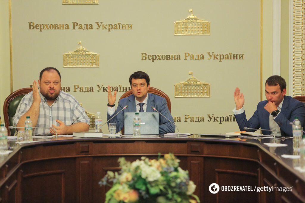 Будущие первый вице-спикер Стефанчук и глава ВР Разумков