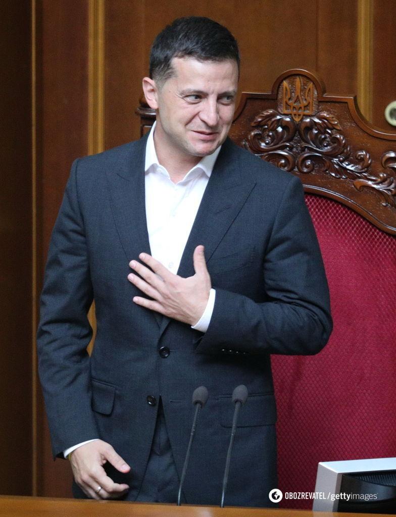 Президент України Володимир Зеленський на засіданні Верховної Ради