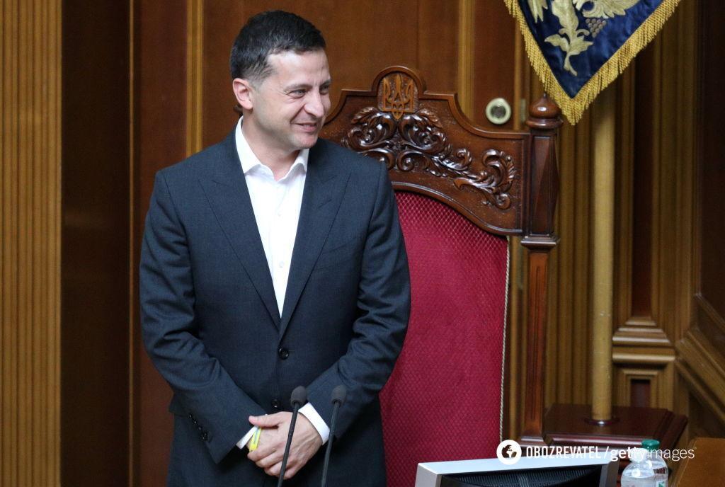 Президент України Володимир Зеленский на засіданні Верховної Ради