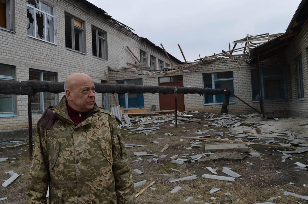 Геннадий Москаль в Луганской области, февраль 2015 года