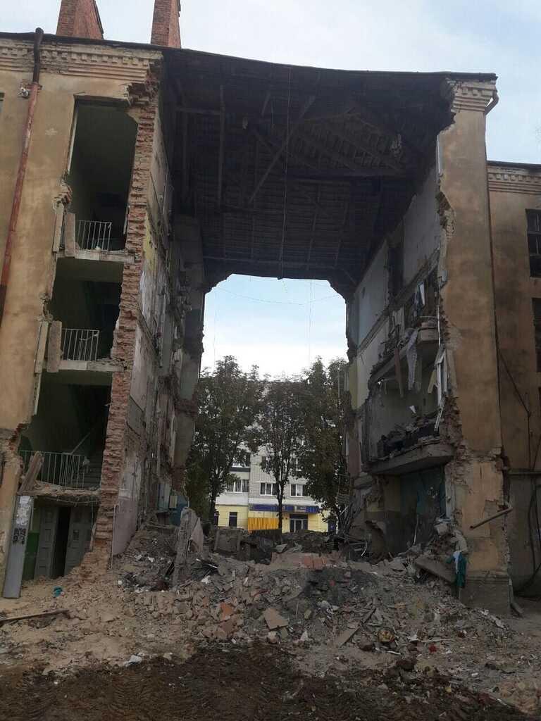Взрыв дома в Дрогобиче