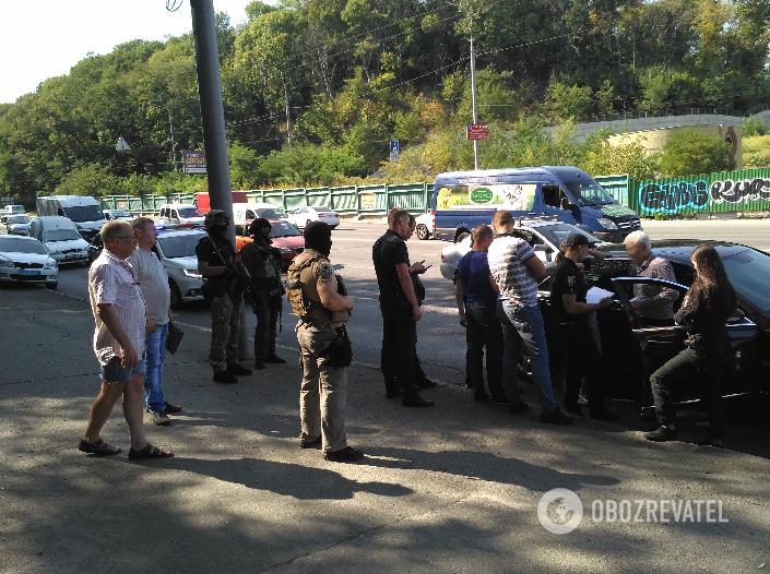 Полицейская операция в Киеве
