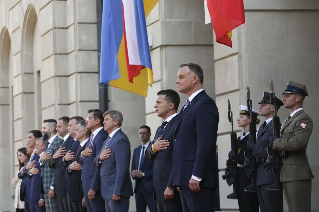 Андрій Дуда та Володимир Зеленський