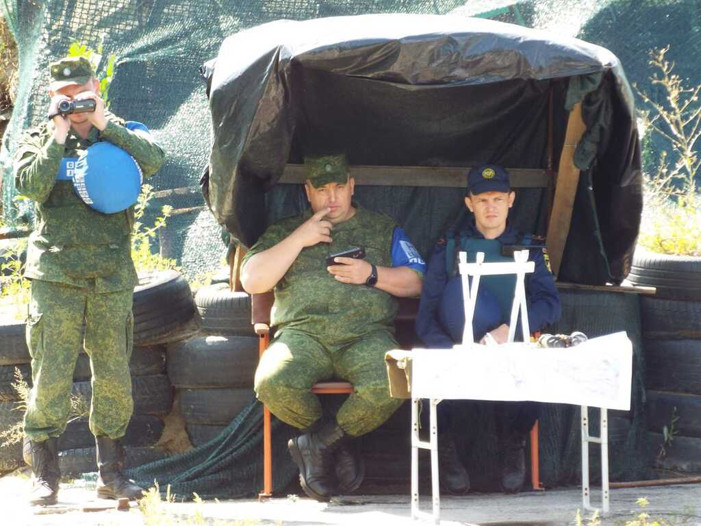 Блокпост терористів під Станицею Луганською