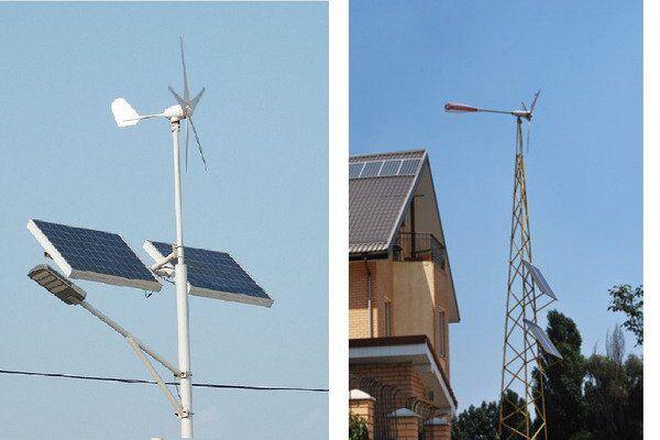 Комбинированные ветро-солнечные решения для дома - частое предложение