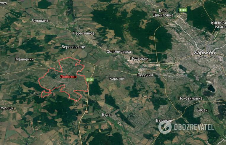 Аварія трапилася на трасі біля м. Люботин