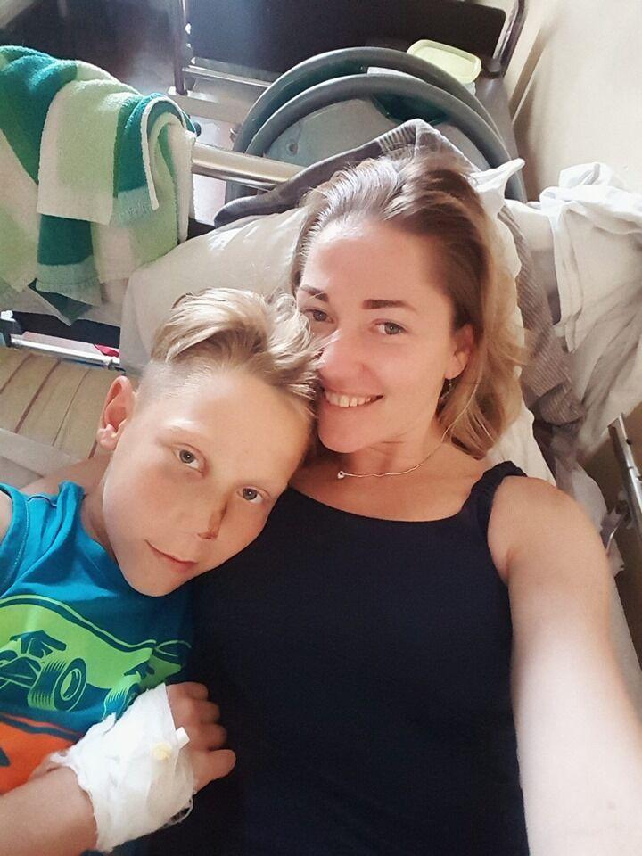 Мирослава Молитовник с сыном