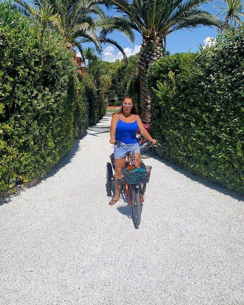 Вербер на велосипеде