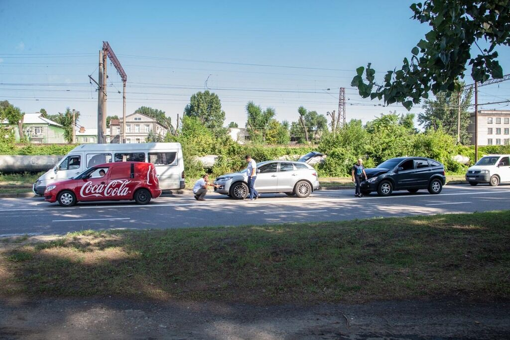 У Дніпрі зіткнулися SsangYong, Skoda і Mazda