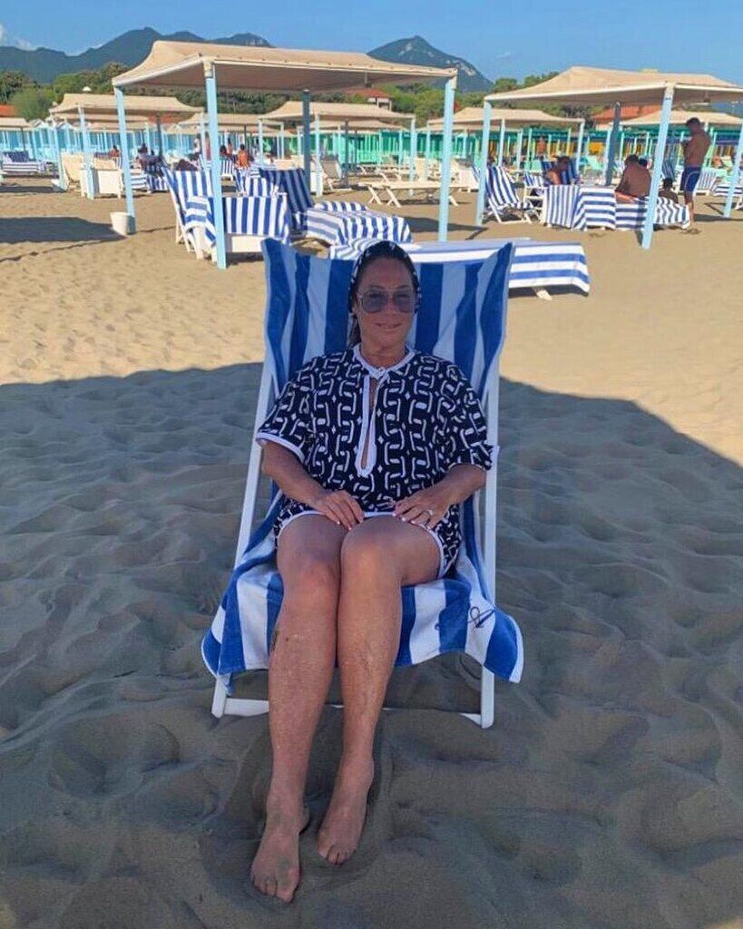 Алла Вербер на пляже