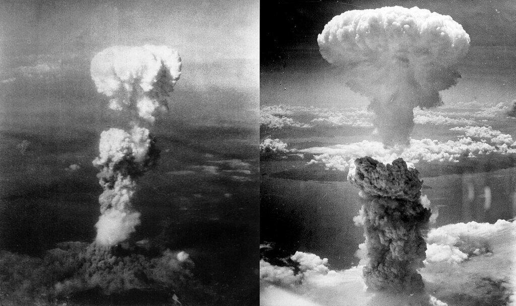 Хиросима (слева) - Нагасаки (справа)