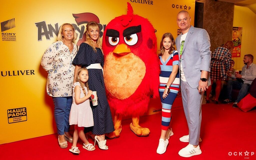 Євген Кошовий з сім'єю