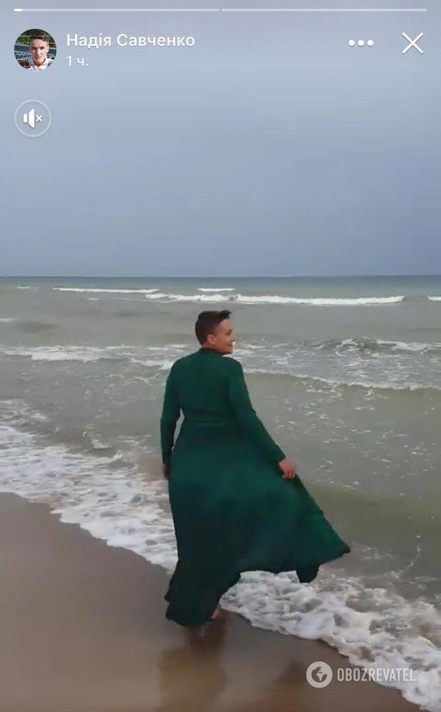 Савченко влаштувала незвичну фотосесію на морі