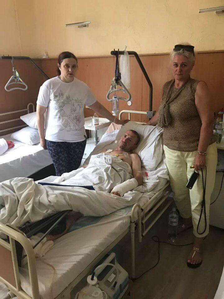 Раненый боец ВСУ
