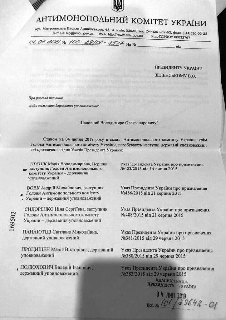 Руководитель Антимонопольного комитета перечислил фамилии всех восьми госуполномоченных