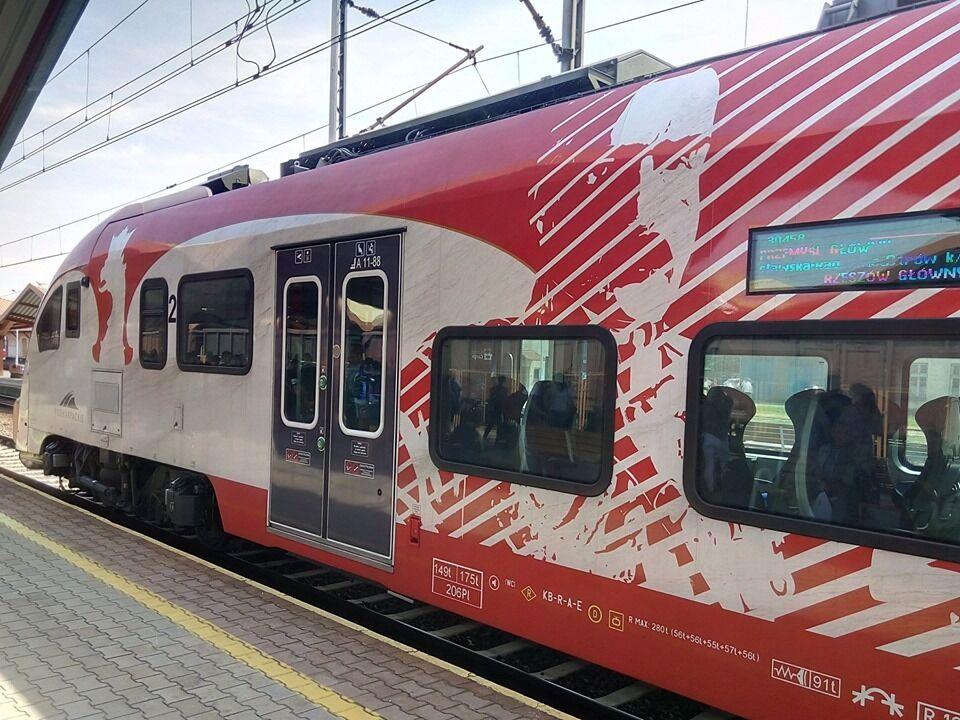 У Польщі розмалювали поїзд