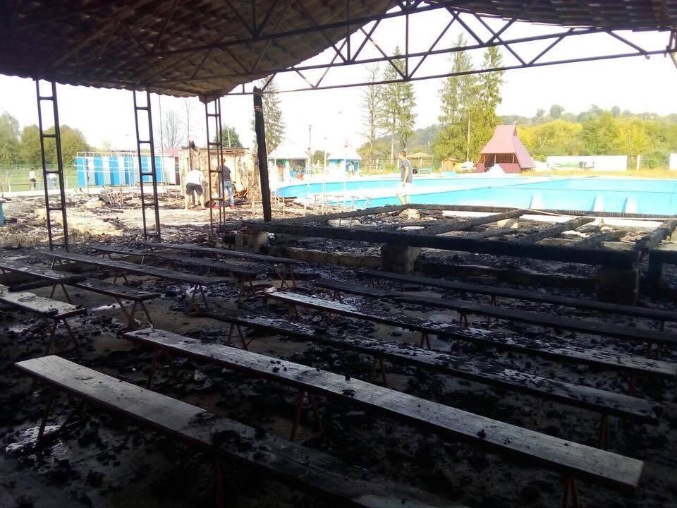 Пожежа в дитячому таборі на Прикарпатті: фото