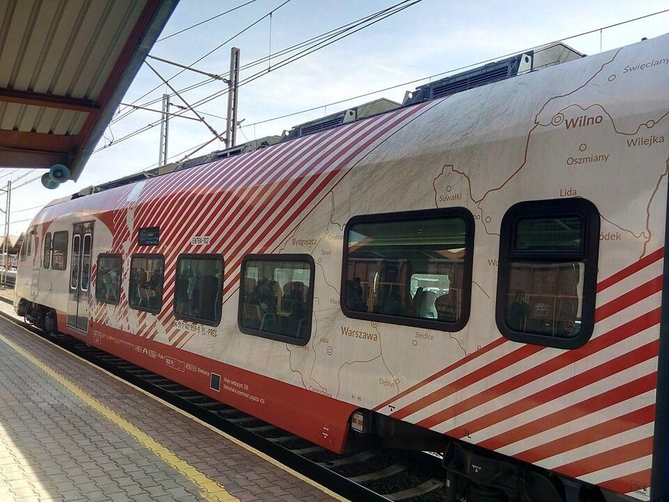 Польський поїзд із картою