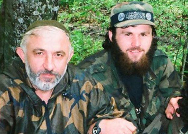 Аслан Масхадов і Зелімхан Хангошвілі