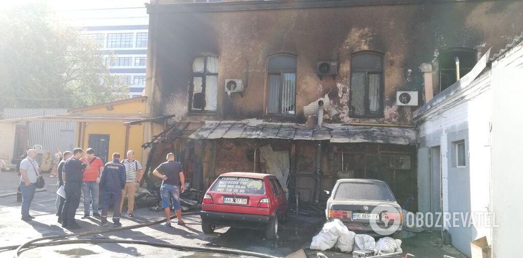Пожежа у центрі Києва