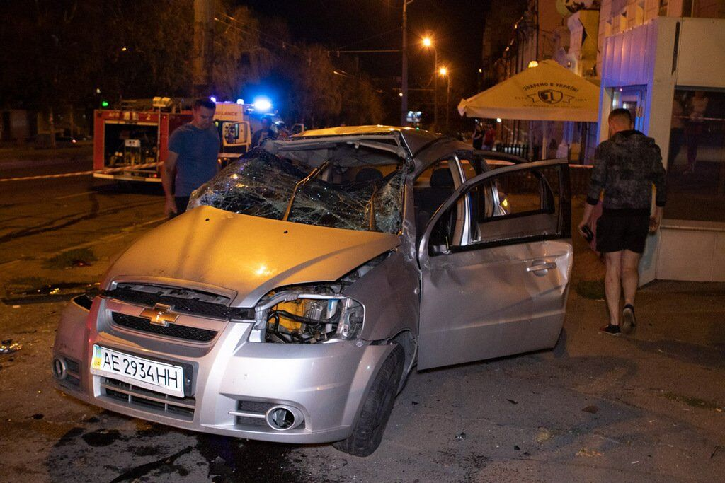 Аварія трапилася о 21:40