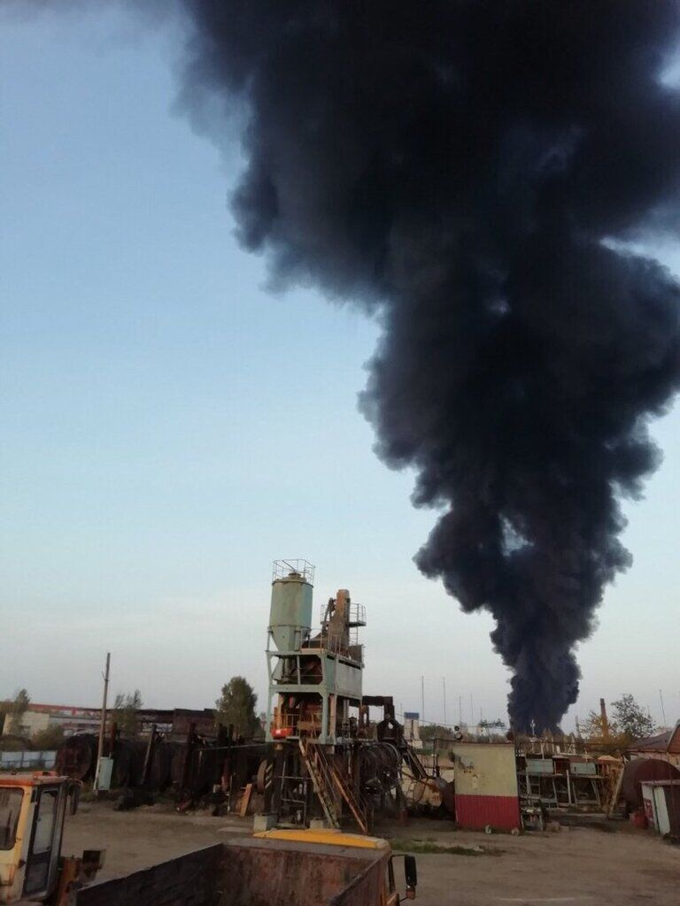 В Нижегородской области вспыхнул пожар на складе