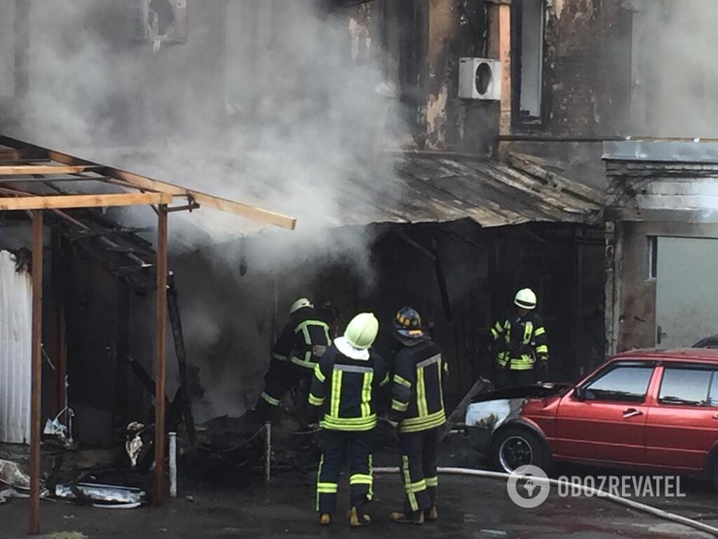 Пожар в столице