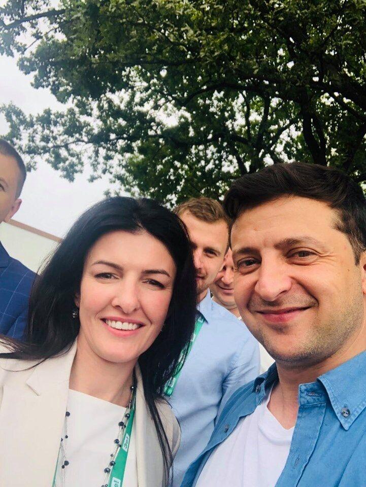 Елена Копанчук и Владимир Зеленский