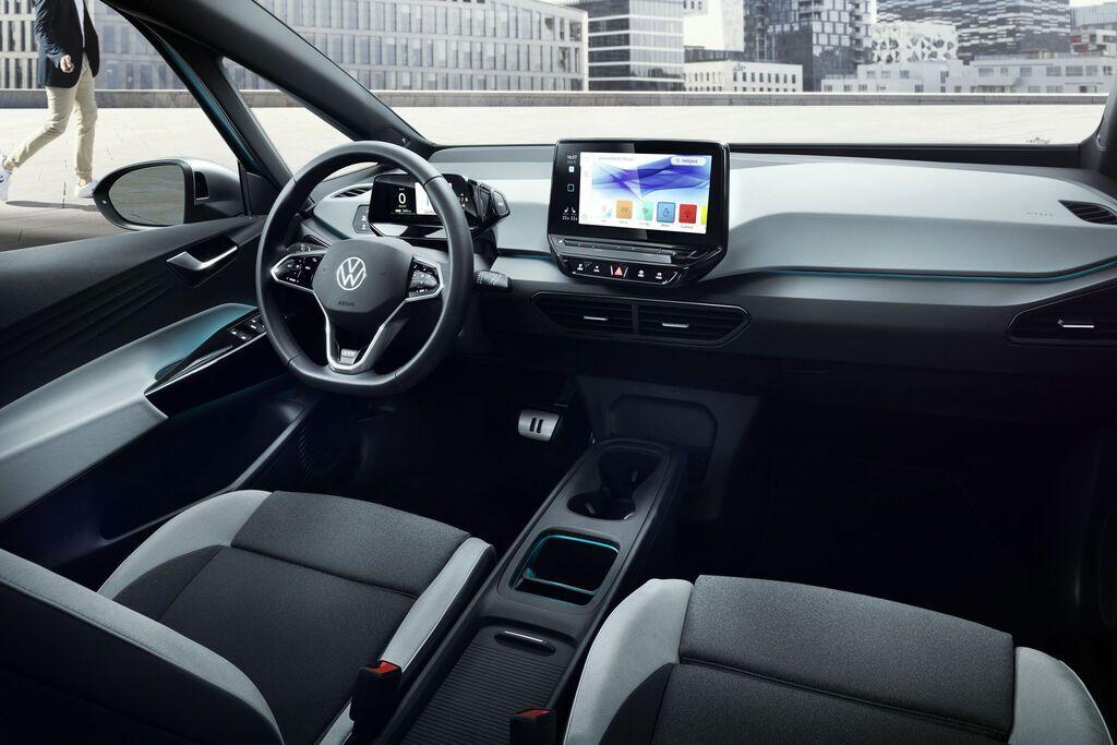 Салон электромобиля Volkswagen ID.3