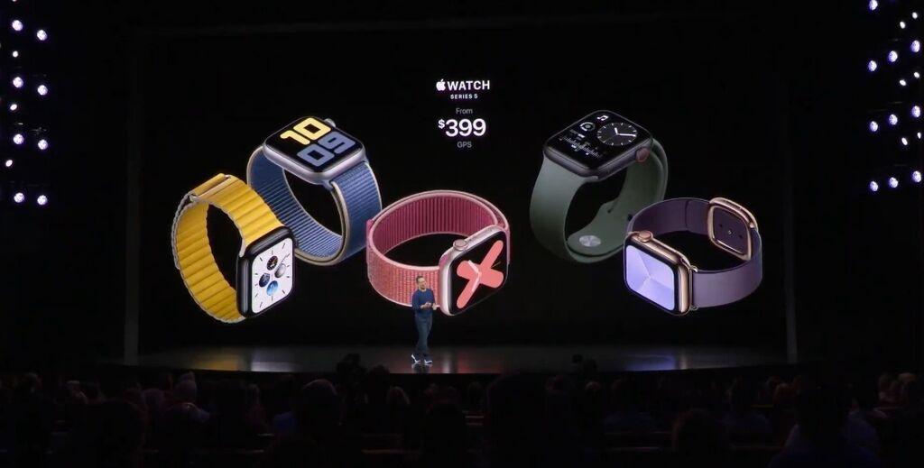 Компанія Apple представила годинник Apple Watch 5