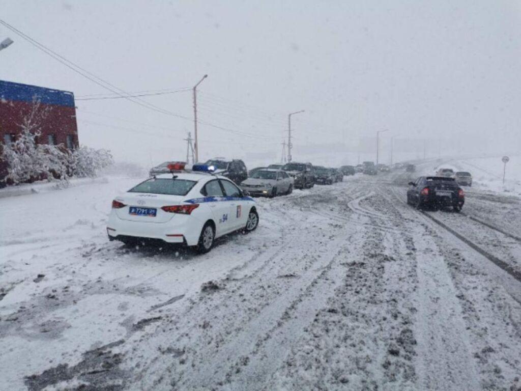 Норильск засыпало снегом