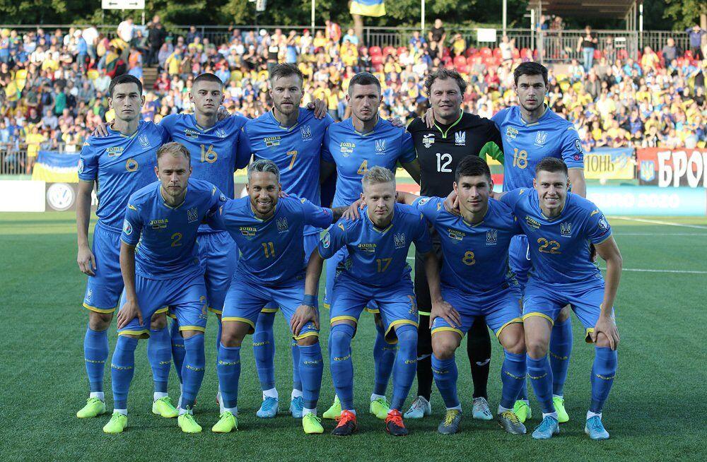 Національна команда України перед матчем у Литві