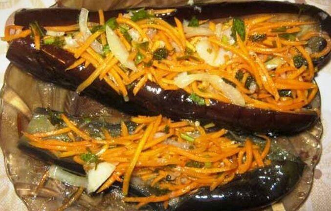 Рецепт смачних квашених баклажанів з капустою