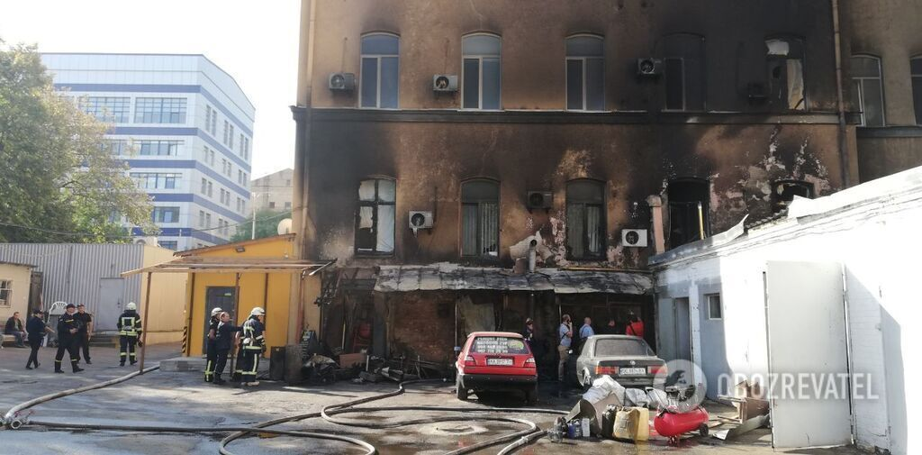 """Пожар в районе метро """"Олимпийская"""""""