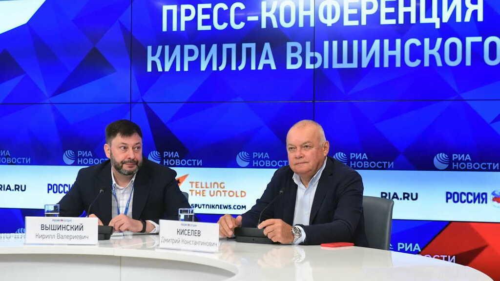 Кирилл Вышинский и один из главных путинских пропагандистов Дмитрий Киселев